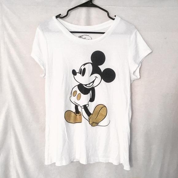 8d865775f Disney Tops | Mickey Mouse Glitter Graphic Tee | Poshmark